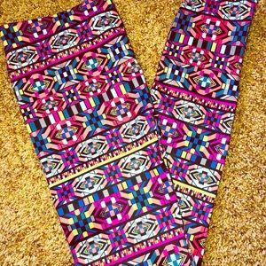 Pants - NWOT multi-colored leggings